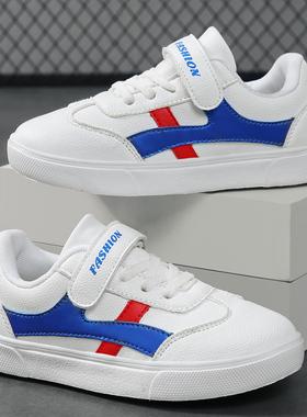 回力童鞋男童小白鞋女童儿童白色运动鞋春秋款冬季皮面中大童板鞋