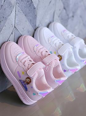 童鞋儿童小白鞋女2021新款女童冬季加绒保暖运动鞋春秋女孩鞋板鞋