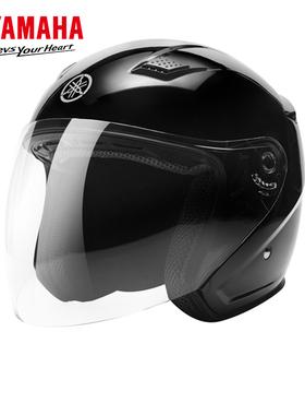 YAMAHA雅马哈摩托车电动车头盔3C认证男女四季轻便安全帽半盔秋冬