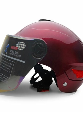 电动摩托车头盔踏板女装车电动瓶防紫外0606遮阳防晒半盔