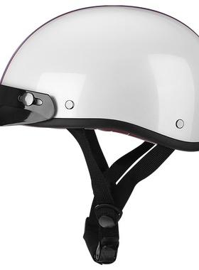 头盔男女士夏季小牛电动车头盔轻便小头盔哈雷复古半盔轻便安全帽