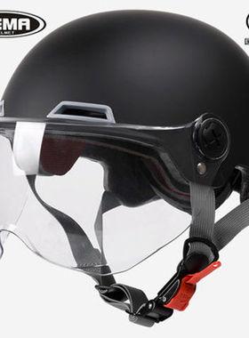 野马351S电动车摩托车头盔YEMA3c认证男女通用夏季防晒半盔安全帽