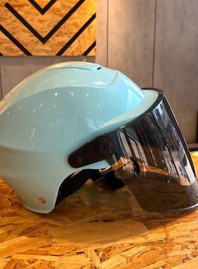 电动电瓶车头盔灰男女款四季通用安全帽轻便式可爱粉半盔防晒全盔