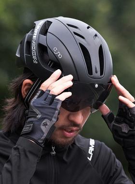 自行车头盔男山地车骑行头盔公路风镜一体成型安全头帽女单车装备