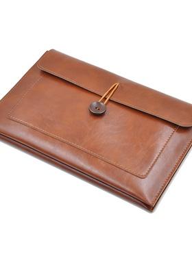 华为MatePadPro平板电脑内胆包10.8英寸简约皮革手拿包保护袋套。