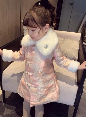 女童拜年服新款冬装女宝宝连衣裙中国风裙子加厚小女孩唐装旗袍裙