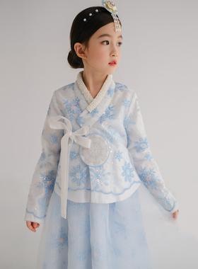 女童汉服唐装长袖公主裙秋季儿童超仙古装宝宝韩服中国风拜年服冬