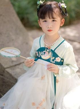女童汉服中国风秋冬公主儿童古装唐装秋装裙子小女孩童装超仙长袖