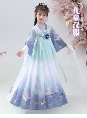 汉服女童秋季古装中国风新款儿童秋装古风宝宝连衣裙超仙女孩唐装