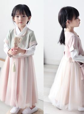 女童汉服裙子秋装素雅宝宝套装民族风春秋季新款儿童襦裙唐装超仙