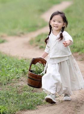 古装拜年服宝宝女汉服襦裙女孩中国风童装儿童服装女童走秀唐装