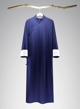 民国风男装中式伴郎服兄弟团礼服长袍马褂唐装立领长衫男相声大褂