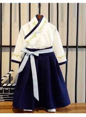 儿童元旦演出服男童新年唐装中国风古装小学生大合唱服装国学汉服