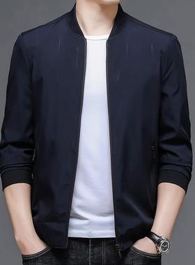 2021新款精品面料轻奢稳重帅气防风透气秋冬季中青年男装外套上衣