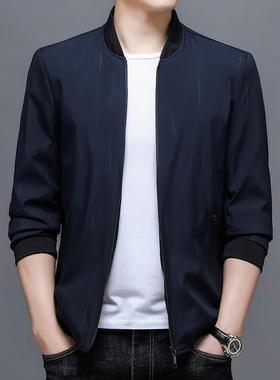 2021秋冬季新款精品面料稳重轻奢帅气御寒薄款中青年男装上衣外套