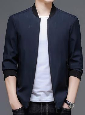 新款精品面料暖和稳重轻奢帅气防风透气秋冬季中青年男装外套上衣