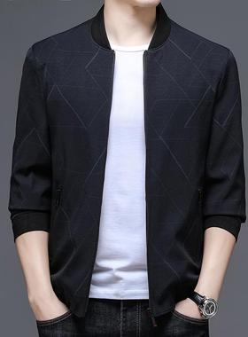 2021秋冬季新款精品面料稳重轻奢帅气纯色薄款中青年男装上衣外套