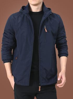 户外男士外套秋冬季2021新款中年男装秋装上衣服加绒夹克男春秋厚