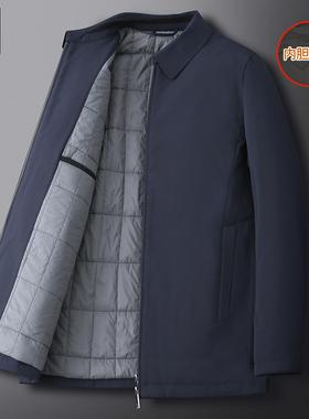 爸爸冬装外套中老年人棉衣中年男装加厚棉服上衣服老人秋冬季棉袄