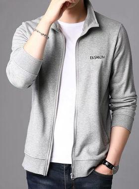 男士外套2021新款秋冬季潮流休闲运动中年上衣服休闲款男装夹克潮