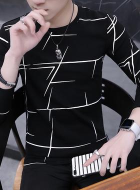 长袖t恤男士秋季潮流工地圆领工地打底衫上衣服男装夏天短袖小衫