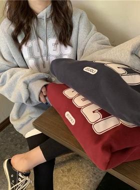 早秋季2021新款韩版薄款连帽卫衣情侣男女同款潮ins百搭上衣学生
