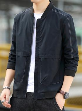 夹克男秋冬季2021新款青年潮流棒球服休闲服薄款男装上衣男士外套
