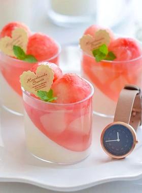 椭圆圆形慕斯杯木糠杯布丁杯冰淇淋杯酸奶杯硬塑料一次性透明杯子