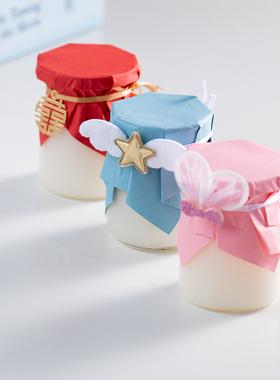 布丁瓶玻璃慕斯杯带盖酸奶瓶焦糖布丁杯烤箱用耐高温甜品台酸奶瓶