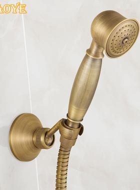 欧式仿古复古风格全铜纯黑古铜淋浴花洒手持小蓬头喷头手喷单花洒